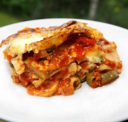 Vegetarisk lasagne med Vermouth