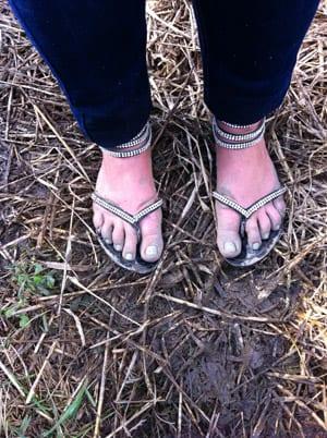 Leriga fötter