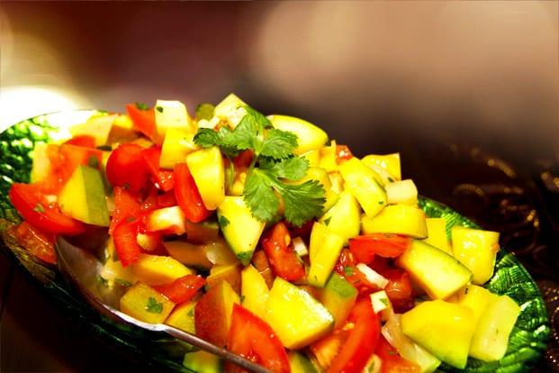 Mango och ananas-salsa