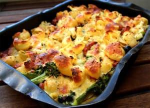 pastagratäng vegetarisk broccoli