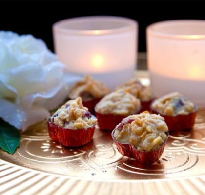 Cornflakes i vit choklad och tranbär