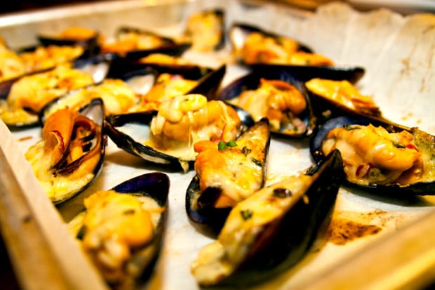 gröna musslor tillagning