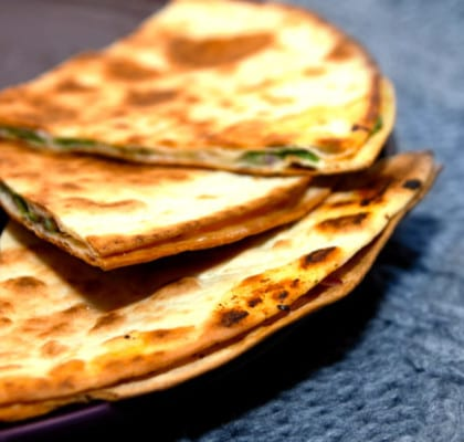 Vegetariska Quesadillas