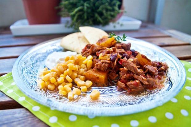 Chili med högrev och ananas i Crock Pot
