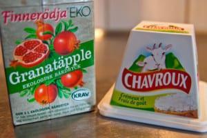 Granatäppeljuice och getost