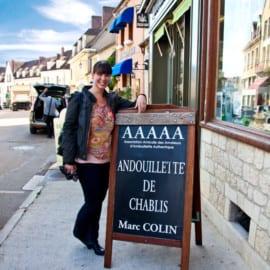 Karoline outside the Andouillette shop