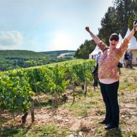 Karoline in the vineyard