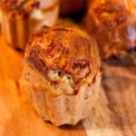 Dinkelmuffins med keso och soltorkade tomater