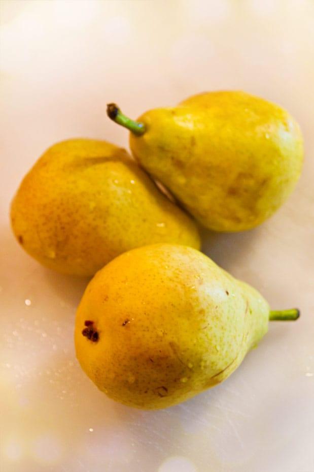 Fina, gula små päron