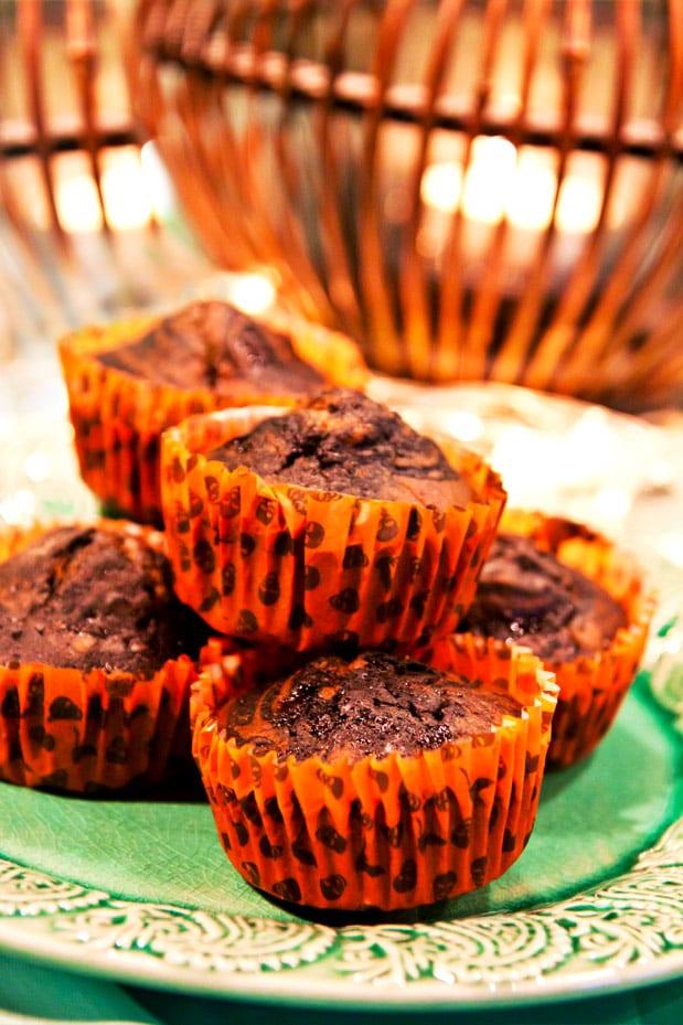 Svarta muffins med lakrits till Halloween