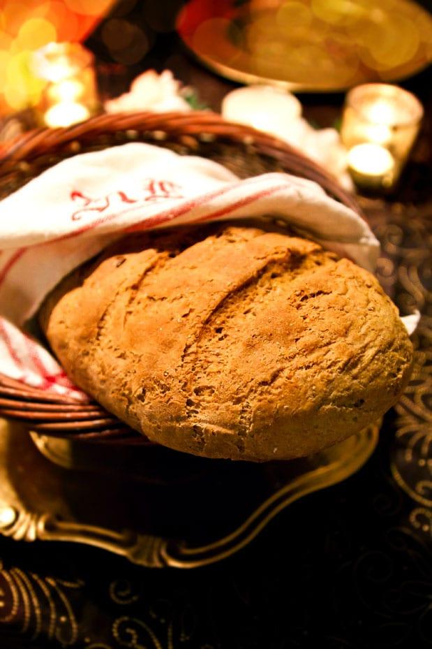 Italienskt lantbröd med morot och solrosfrön