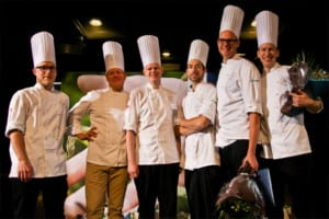 Finalister Årets Kock 2013 - Leo Frodell, Daniel Räms, Martin Brag, Johan Backéus, Jesper Bogren, Martin Hansen