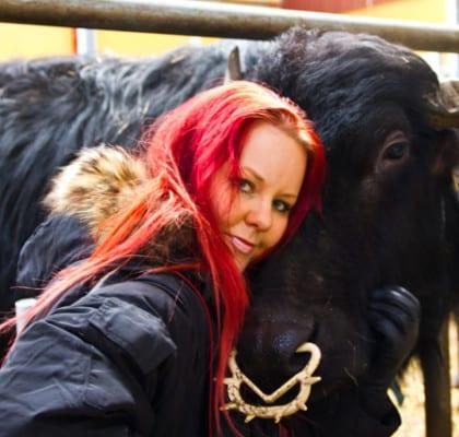 Madeleine med vattebnuffel @ Ängsholmens Gårdsmejeri