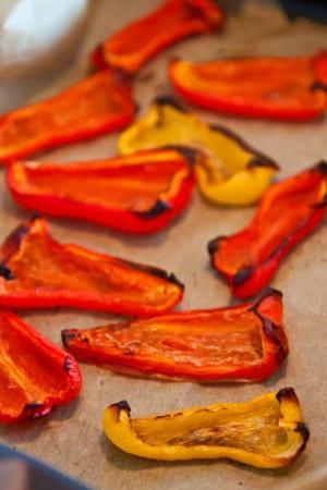 Rostade paprikor