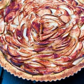 Glutenfri äppelpaj med kikärtor