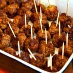 Köttbullar med färskost smaksatt med pesto och rucola