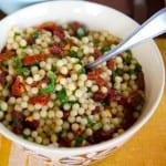 Pärlcouscous med kantareller och soltorka tomat