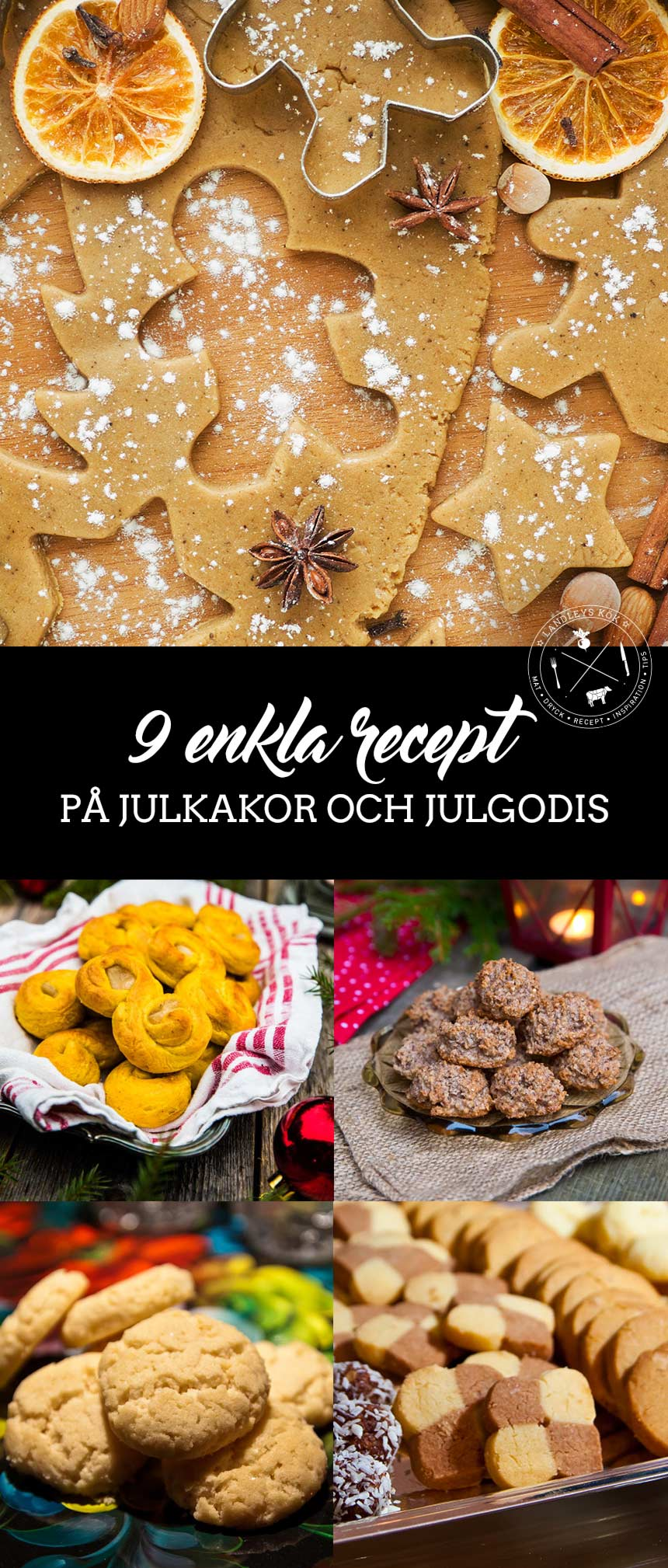 9 enkla recept på julkakor och julgodis