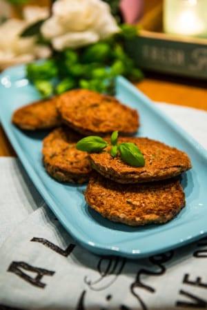 Vegetariska biffar med kidney- och sojabönor