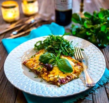 Lyxig viltpizza med älg- och renkött