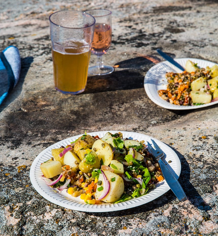 Picknicksallad med potatis