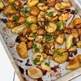 Rostad potatis och kantareller med balsamico