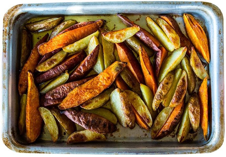 klyftpotatis i ugn kryddor