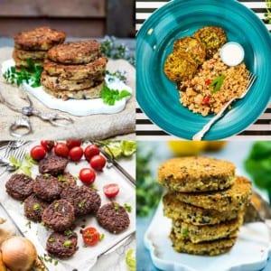 9 bästa recepten på vegetariska biffar Pinterest Collage