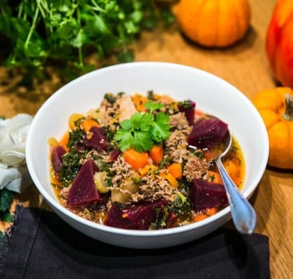 Köttfärsgryta med rotsaker