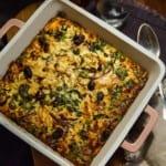 Kycklinggratäng med pulled chicken och italienska smaker