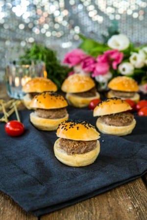 Små hamburgerbröd till sliders