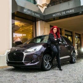 Madeleine Landley vid DS 3 Pure Tech 130 S&S BVM6 Cabriolet 2016 Saint Tropez