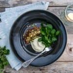 Lammfilé med gremolata och jordärtskockspuré