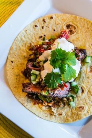 Tacos med grillad högrev