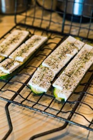 Grillad zucchini med fetaost
