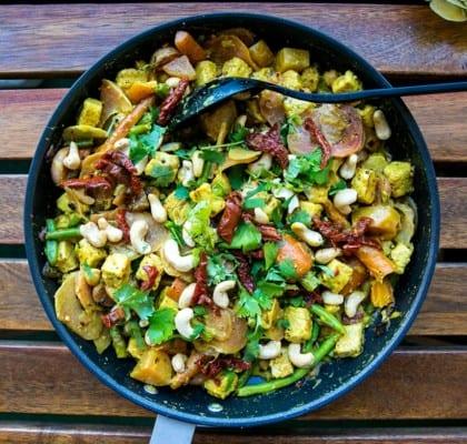 Currygryta med mango och quorn bitar