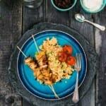 Kyckling-kebabspett med couscous