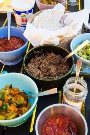 Tacos med pulled beef i tryckkokare
