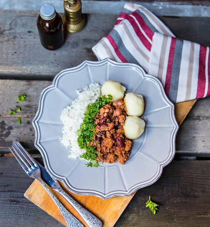 vegetarisk chili sin carne