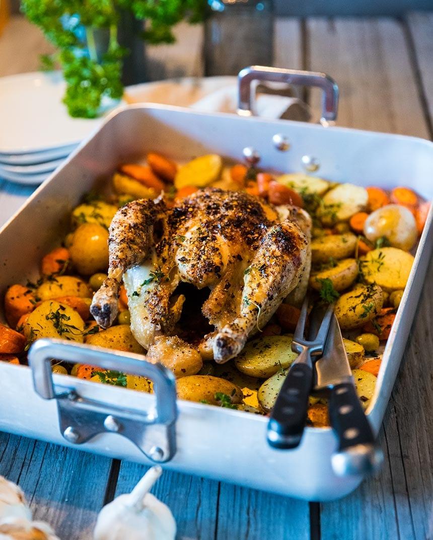 ugnsstekt kyckling recept