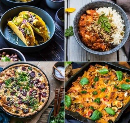 Bästa vegetariska recepten till 12 vegetariska middagar