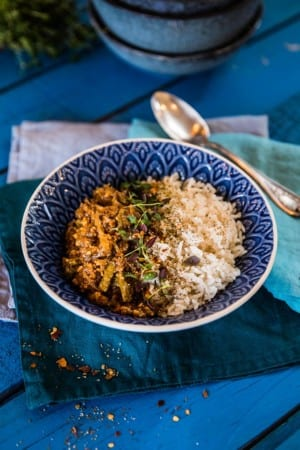Köttfärsgryta i Crock Pot med ris