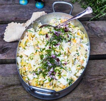 Äggröra med potatis och keso