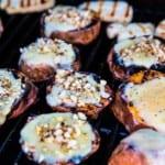 Grillad sötpotatis med cheddarost och mandel