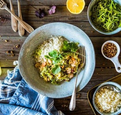 Räkwok med ris