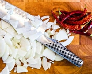 Global olivslipad grönsakskniv