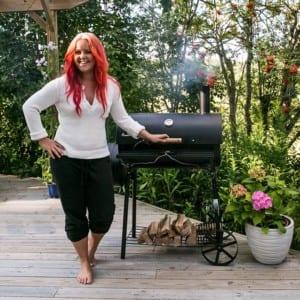 Madeleine Landley röker mat