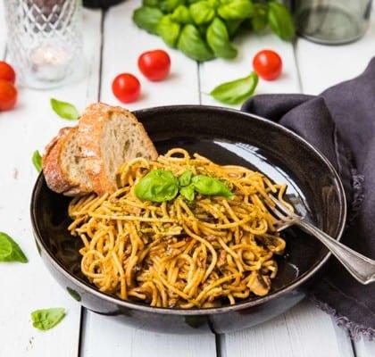 Krämig pastasås med bacon och champinjoner