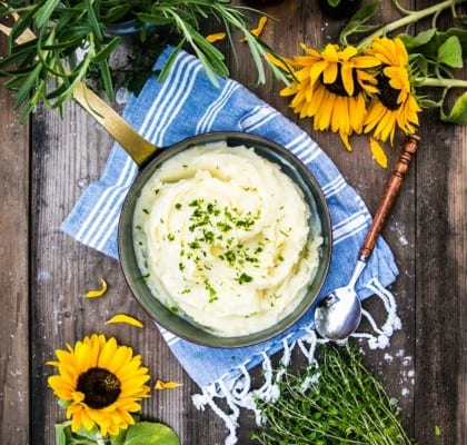 Hemmagjort, krämigt potatismos och tips på goda smaksättningar