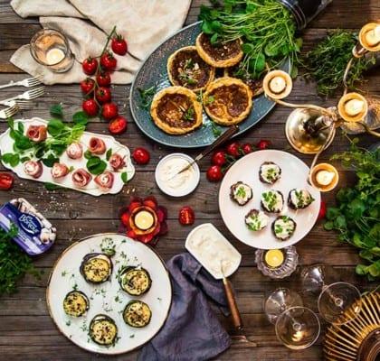 4 recept på enkel och festlig plockmat till buffén
